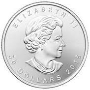 Palladium Maple Leaf 1 oz Wertseite