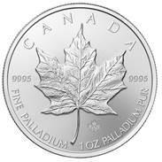 Palladium Maple Leaf 1 oz Motivseite