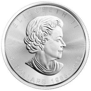 1 oz Maple Leaf 2018 Silbermuenze Jubilaeumsausgabe 30 Jahre Rueckseite