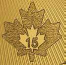 Microgravur der Maple Leaf Goldmünze